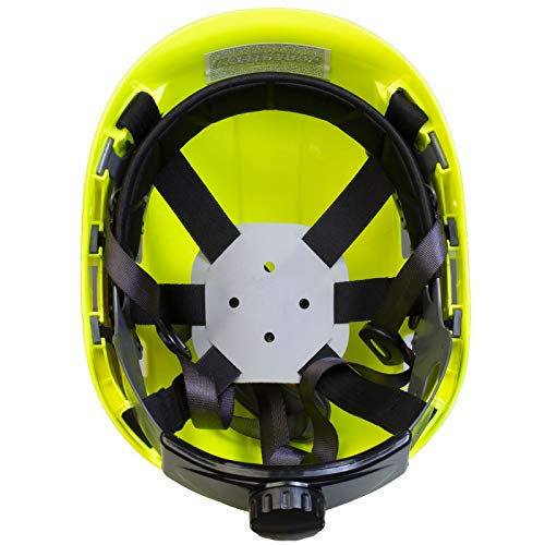 PPE By JORESTECH - ABS Work-At-Height and Rescue Hard Hat Slotted Ventilated Helmet w/Adjustable Ratchet 6-Point Suspension ANSI Z89.1-14 (Lime) by JORESTECH  (Image #4)