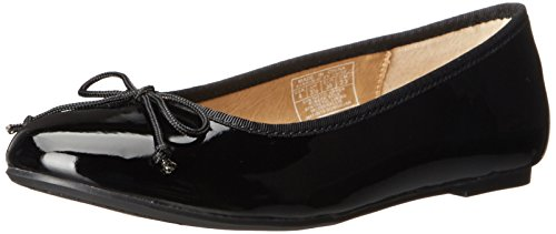 Polo Ralph Lauren Kids Nellie Ballet Flat (Toddler/Little Kid/Big Kid), Black Patent, 4.5 M US Big Kid