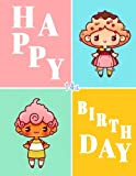 Happy 14th Birthday: Notebook, Journal, Diary, 105 Lined Pages, Birthday Gifts for 14 Year Old Girls, Teenage Fans of Kawaii Cuteness, 8 1/2' x 11'