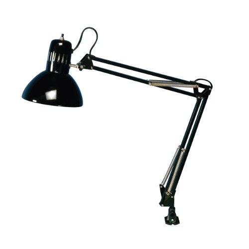 Home Office Swing Arm Lamp Black -13W CFL Bulb Included New 2014