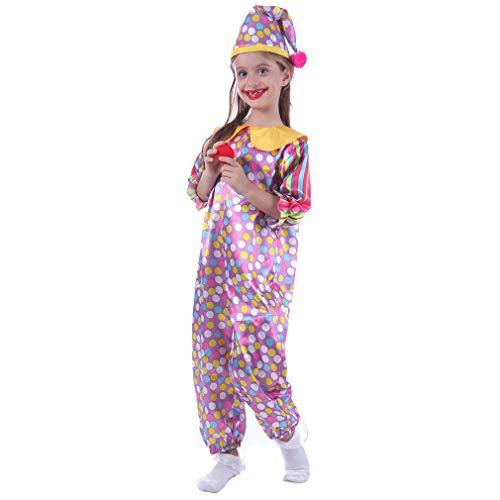 STYLER Polka Dot Clown Costume for Girls