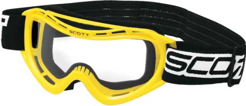 Scott Voltage X ATV Goggles With Clear Lens Yellow One Size