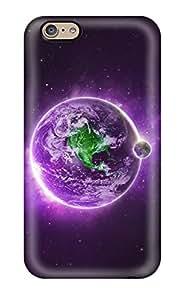 Jalik Davis Premium Protective Hard Case For Iphone 6- Nice Design - Purple Earth Background