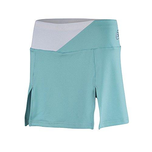 BullPadel Calendula - Falda para mujer, color blanco, talla L Verde agua