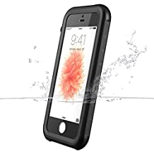 iPhone SE Case, iThrough® iPhone SE/5S/5 Waterproof Underwater Case Proof, Shock Heavy Duty Protective Carrying Case Cover for iPhone SE 5S 5 Black