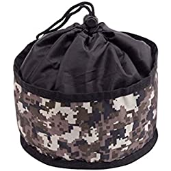 Doggles Foldable Travel Bowl, Green Camo - Small