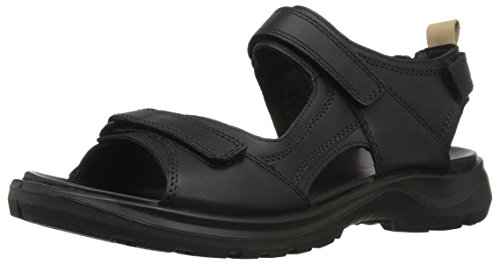 - ECCO Women's Yucatan outdoor offroad hiking sandal, black/powder, 10 M US
