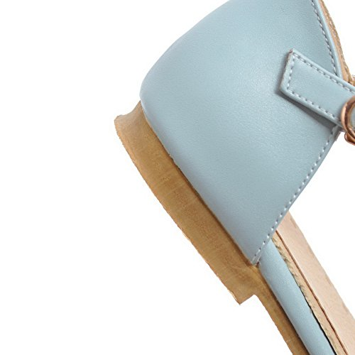 Womens Blue BalaMasa Road Style Toggle Baguette ASL04961 Sandals Urethane 1xwAq4dH