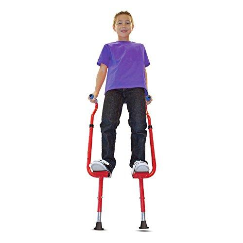 Geospace Original Walkaroo 'Wee' Balance Stilts Beginners, Little Kids (Ages 4 up), Red ()