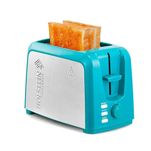 Holstein Housewares – 2-Slice Toaster with 7 Browning Control Settings, Teal/Stainless Steel – Great to Toast Bread…