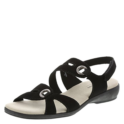 Predictions Comfort Plus Women's Black Women's Peggy Strappy Sling 8 Wide