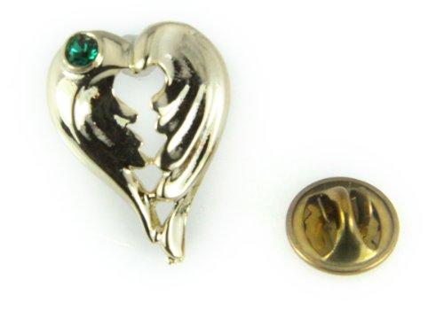 - 6030396 May Birth Month Healing Angel Wings Lapel Pin Volunteer Helper Appreciation Recognition Award
