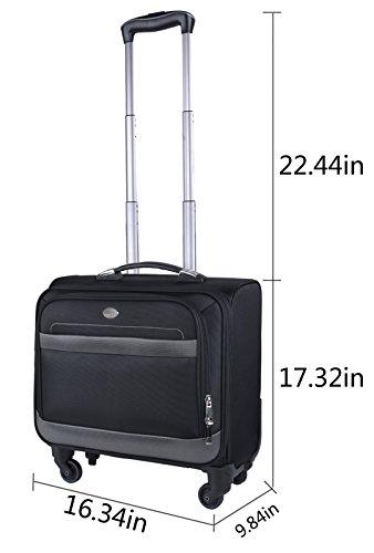 Rolling Laptop Case, COOFIT Nylon Rolling Laptop Briefcase Roller Laptop Bag by COOFIT (Image #5)