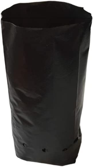 Frjjthchy 100 PCS Thicken Plastic Nursery Bags for Plants Fruit Flower Grow Bags Seedling Pots 7.87×11.81 in