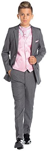 Paisley of London, Gris Para Niños Traje, Corte Ajustado traje ...