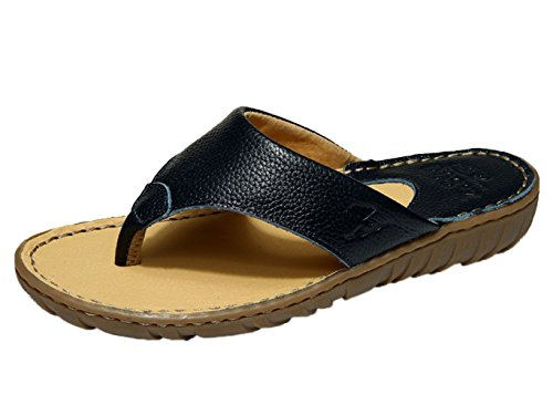 DQQ Womens Leather Sling Flip Flop Thong Sandal A MLq0Hb
