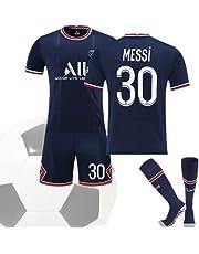 Paris Messi #30 Home Jersey Lionel Messi Paris Saint Germain 2021-2022 Jersey Set