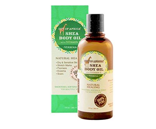 Lemon Moisturizing Verbena (Out of Africa Shea Butter Body Oil - Lemon Verbena Scented (9 oz Bottle); All-Natural Moisturizing Oil for Skin Care and Massage)