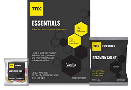 TRX Essentials High Potency Multi-Vitamin, ONE Month Supply of 30 Daily Power Packets Plus 15 Post-Workout Recovery Shake Packs Designed to Support Exercise Recovery, ()