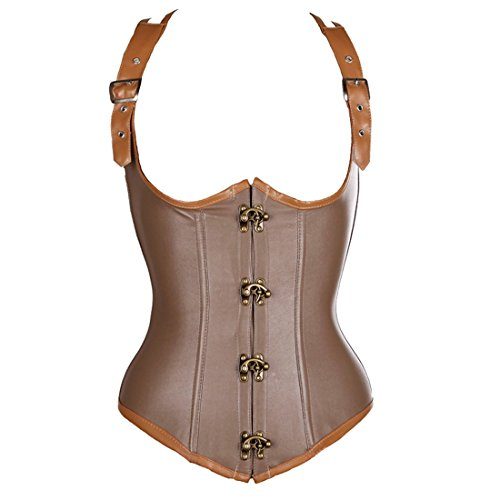 Corset fans Leather Underbust Steampunk Waistcoat product image