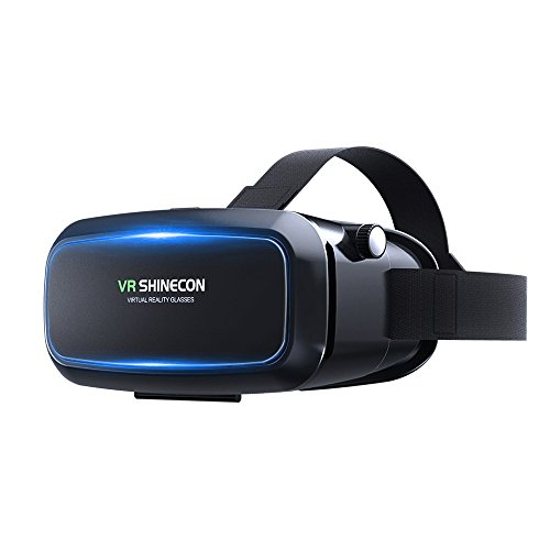 VR SHINECON Virtual Reality Glasses VR Headset-3D VR Glasses or Virtual Reality Headset for Videos, Movies and Games-Widely Compatible with iPhone, Samsung and Other 4.7-6.0 inch Smartphones (Black)