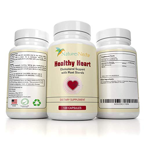 Healthy Heart Cholesterol Lowering Supplements with Plant Sterols Help Lower Cholesterol Naturally - Plant Sterols Supplements Naturally Lower High Blood Pressure + Smart Original Complete Supplement