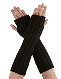 uxcell uxcellUnisex Textured Fingerless Style Arm Warmer Gloves