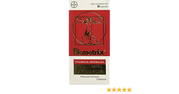 Amazon.com: Biometrix Multivitamin and Mineral Natural Supplement With Ginseng And Gingkgo Biloba 30 Capsules 1 Month Trial Package: Health & Personal Care