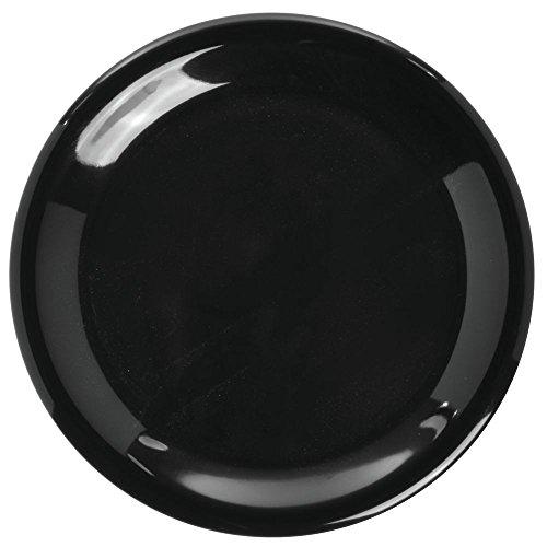 Carlisle 3300403 Sierrus Dinner Plate - Narrow Rim 9'' - Black (24 PER CASE)