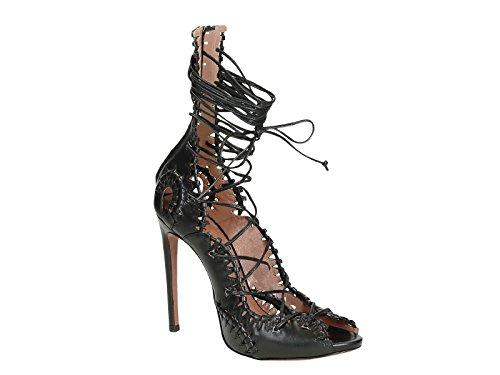 Mujer Zapatos 4s3x524cb23 Negro Alaïa Cuero Altos wHnxv1Iaq5