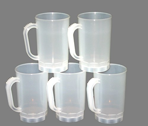 Talisman, Plastic Beer Mugs, 1 Pint , 75 Pack, Color Frosted by Talisman