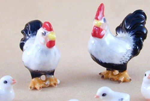 Ceramic Decor Short Chicken FIGURINE Animals by Ceramic BL