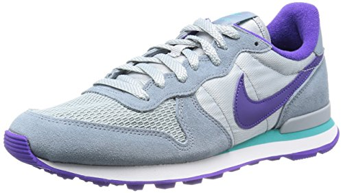 Nike Womens Internationalist Grey / Purple / Aqua Ow-Top Sneakers629684-008