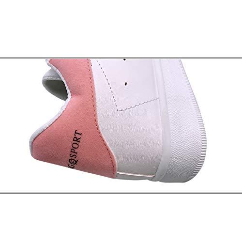 Camminare Skateboard Piattaforma Ragazze Classico Daytwork Low Donna Bianco Da Studenti Scarpe Ginnastica Dance Casual Street Top Trendy Sneaker Rosa 7OxC6wTO