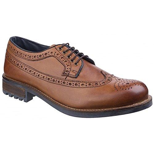 Cotswold Mens Poplar Brogue Dress Shoes Tan