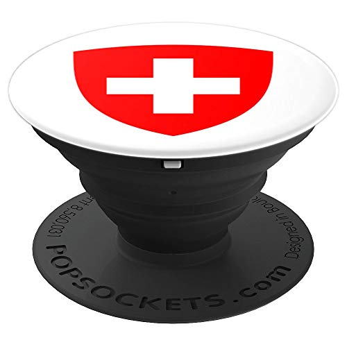 Switzerland Coat - Switzerland Coat of Arms - PopSockets Grip and Stand for Phones and Tablets