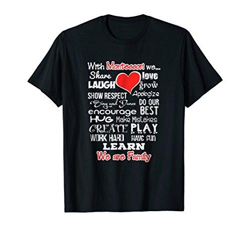 Montessori We Are Family School Shirt Teacher Team Tshirt