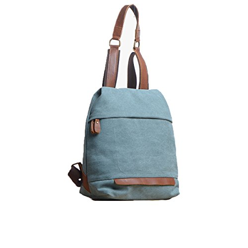 SJLN Women's Backpack High-capacity 13 Inches Computer Bag Casual Canvas Joker Student Backpack Outdoor Shopping Shopping Shoulder Bag,Blue-OneSize