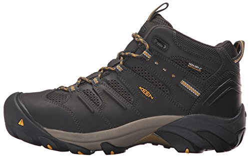 KEEN Utility Men's Lansing Mid Waterproof Industrial and Construction Shoe, Raven/Tawny Olive, 10.5 2E US by KEEN Utility (Image #5)