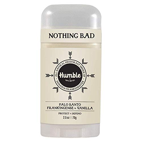 Humble All Natural Deodorant, Aluminum and Paraben Free, Cruelty Free Men's and Women's Deodorant, Palo Santo, 1-Pack