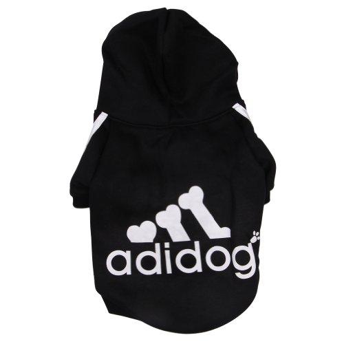 Freefisher Hundemantel Adidog Style (Schwarz, XL)