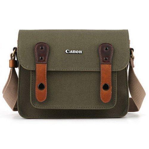 CANON D-SLR RF Mirrorless Pocket Shoulder Bag Case 6520 Khaki for Lens EOS M M2 M3 100D 400D 450D 500D 550D 600D 650D 700D 750D ()