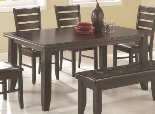 Coaster Newport Dining Table, Cappuccino by Coaster Home Furnishings