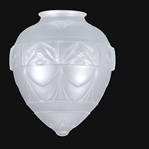B&P Lamp Art Deco Style Satin Crystal Pendant Shade