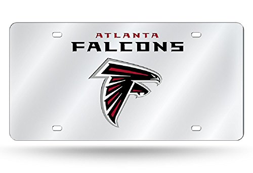 - Rico Industries NFL Atlanta Falcons Laser Inlaid Metal License Plate Tag Tag, Silver, 6
