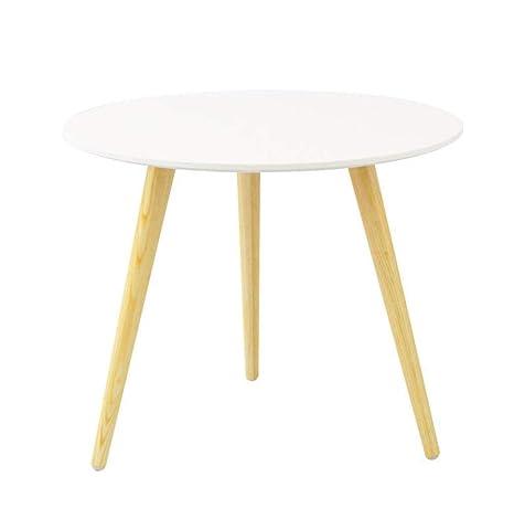 Amazon.com: Mesa de café de estilo nórdico, pequeña, redonda ...