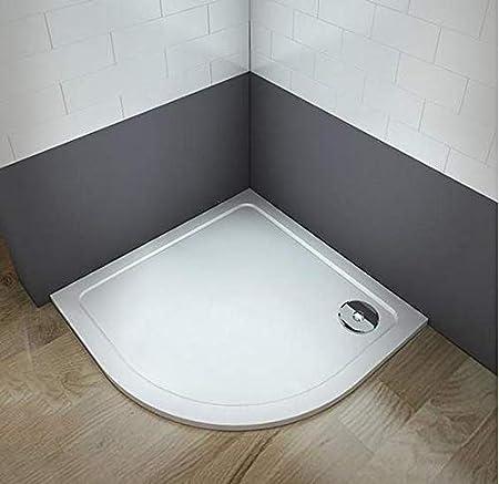 Plato de ducha redondo//circular piedra artificial revestimiento acr/ílico para mamaparas de ba/ño 80x80cm