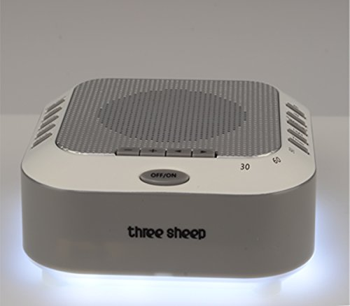 three sheep White Noise Machine Sound Machine, Music Player with Night Light, Preset 5 Soothing Sounds, Timer, and Rechargable Battery (sliver) by three sheep (Image #4)