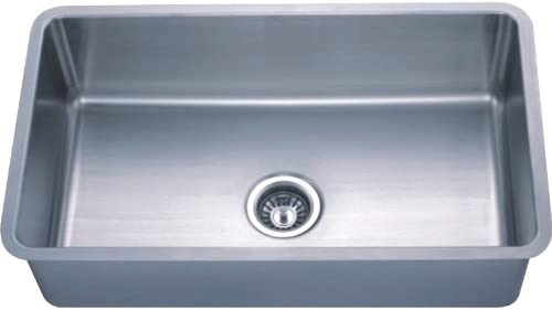 Dowell Undermount Single Bowl Stainless Steel Kitchen Sinks Handcrafted Small-Angle Corner Series 6005 3018