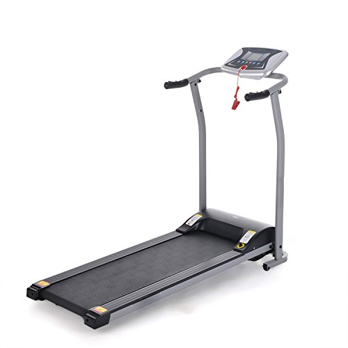 Garain S8400 Easy Assembly Folding Electric Treadmill Running Machine with LCD Computer Displays [US STOCK]